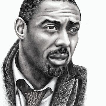 Idris Elba b&w image by mags0412