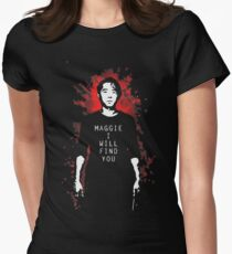 TWD - Maggie, I Will Find You! (Glenn) Women's Fitted T-Shirt