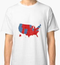 Donald Trump 45th US President - USA Map Election 2016 Classic T-Shirt