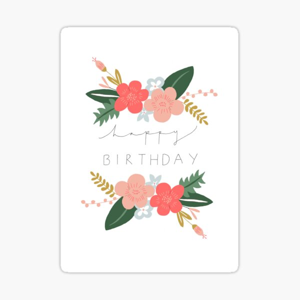 Fiona Happy Birthday/Greetings Card Sticker