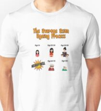 The Average Asian Ageing Process UK Spelling T-Shirt