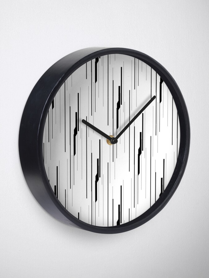 Alternate view of White Static Clock