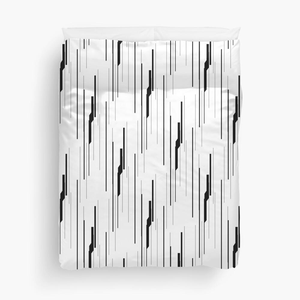 White Static Duvet Cover