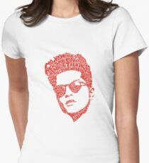 bruno mars thypography RC Womens Fitted T-Shirt