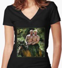 Best Friends Trump & Putin Women's Fitted V-Neck T-Shirt