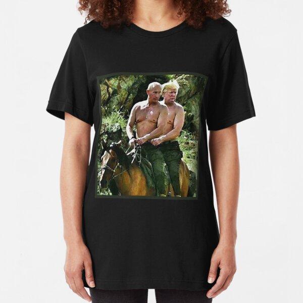 Best Friends Trump & Putin Slim Fit T-Shirt