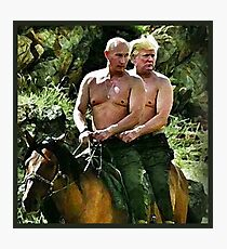 Best Friends Trump & Putin Photographic Print