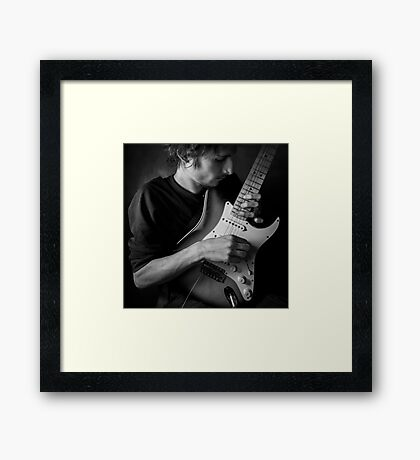 with guitar Framed Print
