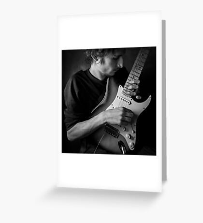 with guitar Greeting Card