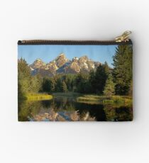 Morning light on the Grand Tetons Studio Pouch