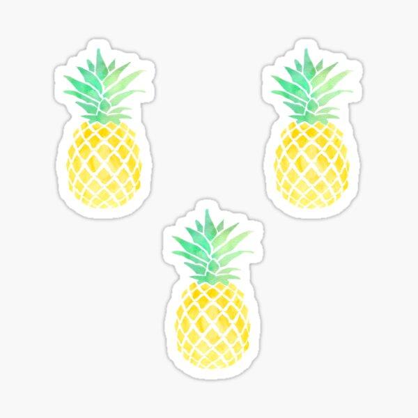 3 pineapples Sticker