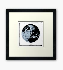 World Web (blue) Framed Print