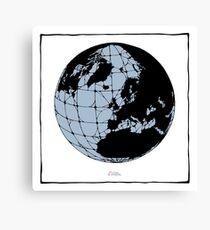 World Web (blue) Canvas Print