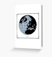 World Web (blue) Greeting Card