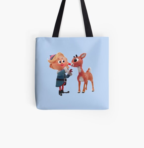 Rudolph the red nose reindeer All Over Print Tote Bag