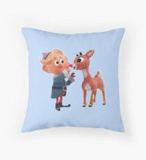 Rudolph the red nose reindeer Throw Pillow