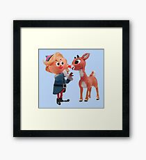 Rudolph the red nose reindeer Framed Print