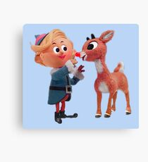 Rudolph the red nose reindeer Canvas Print
