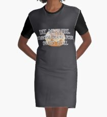 Someone Stole Your Sweet Roll Graphic T-Shirt Dress