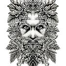 The Green Man B/W by Pete Katz