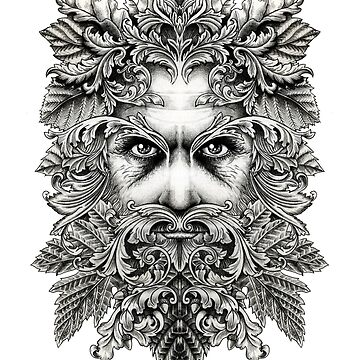 The Green Man B/W by inkyPete