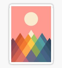 Rainbow Peak Sticker