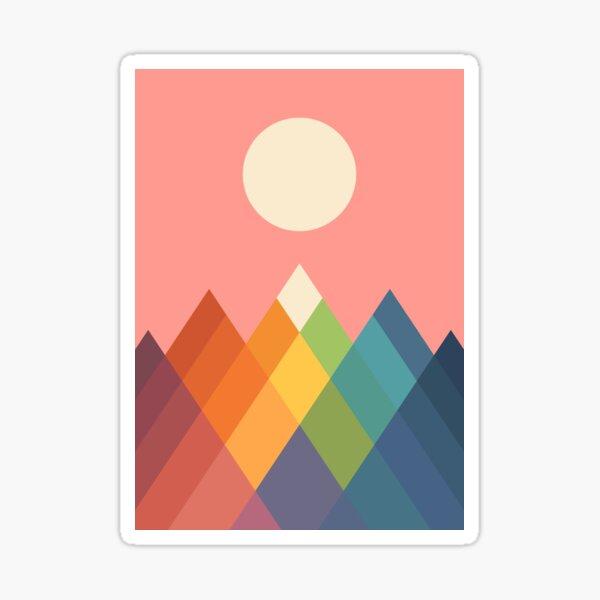 Rainbow Peak Sticker