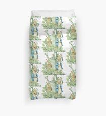 Peter Bunny in the Garden Duvet Cover
