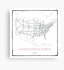 United States of America (blue) Canvas Print