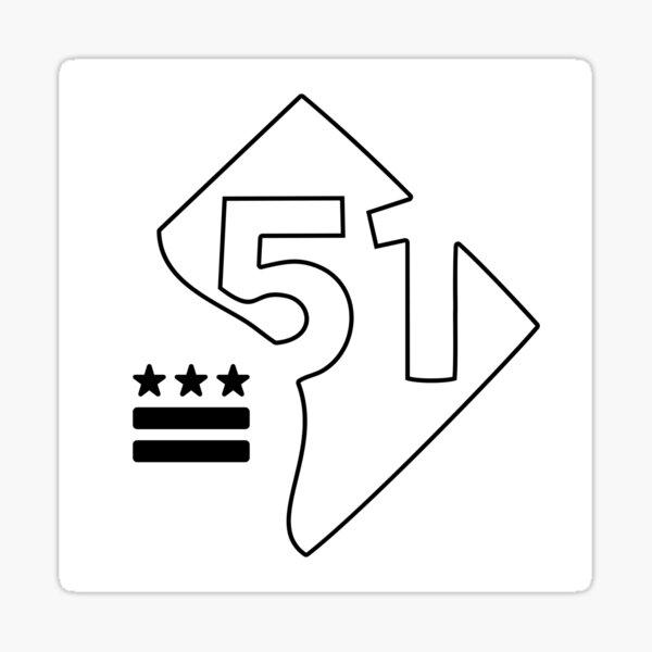 51st State (black) Sticker