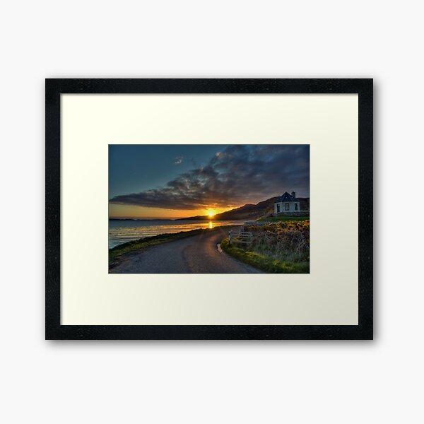 Sutherland Sunset. Framed Art Print