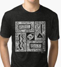 Eye, Square, Triangle (white design) Tri-blend T-Shirt