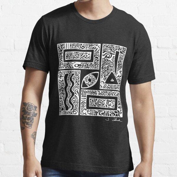 Eye, Square, Triangle (white design) Essential T-Shirt