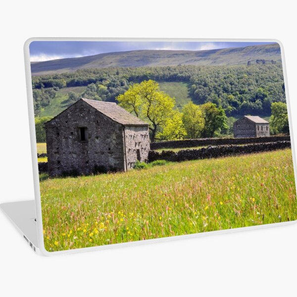Summer Meadow, Wharfedale - The Yorkshire Dales Laptop Skin