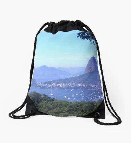 Sugarloaf Mountain, Rio de Janeiro Drawstring Bag