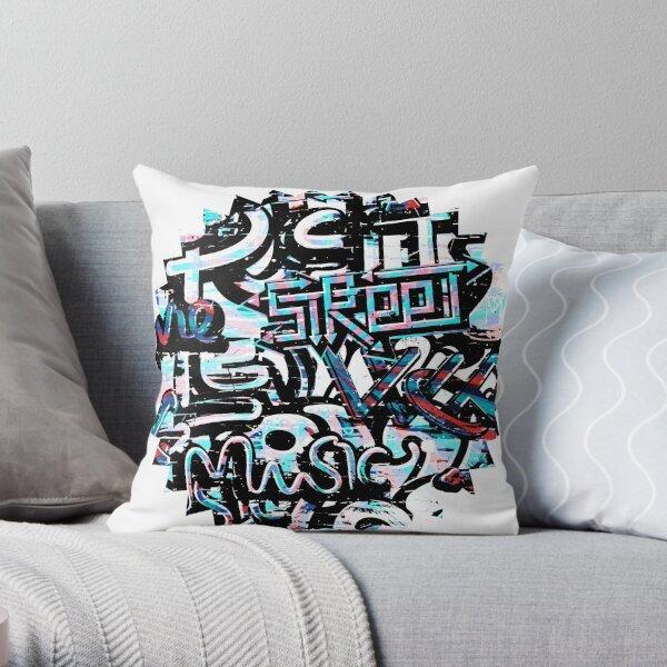 Hip Hop Graffiti Street Music - Soul  Throw Pillow
