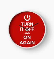 Keep Calm - Turn It Off and On Again Clock