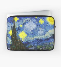 8-bit Starry Night Laptop Sleeve