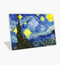 8-bit Starry Night Laptop Skin