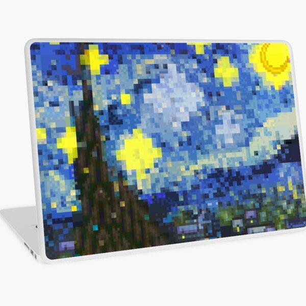 8-bit Starry Night Laptop Skin