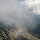 Inside the cloud in Lomnicky Stit  by Ilan Cohen