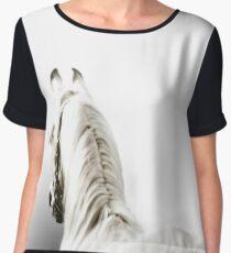 White Arabian Horse Women's Chiffon Top