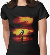 The Crane Kick Karate Kid Womens Fitted T-Shirt