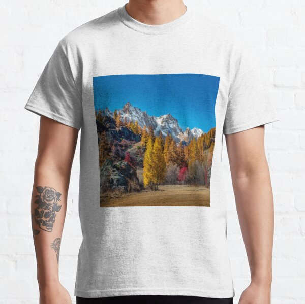 A beautiful Mountains covered with snow Classic T-Shirt