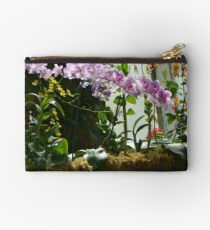 Colorful Orchid Garden Studio Pouch