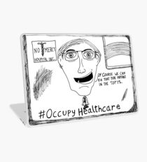 Occupy Healthcare editorial cartoon Laptop Skin