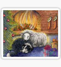 Sheepdog and Ewe 'Merry Christmas to Ewe' Sticker