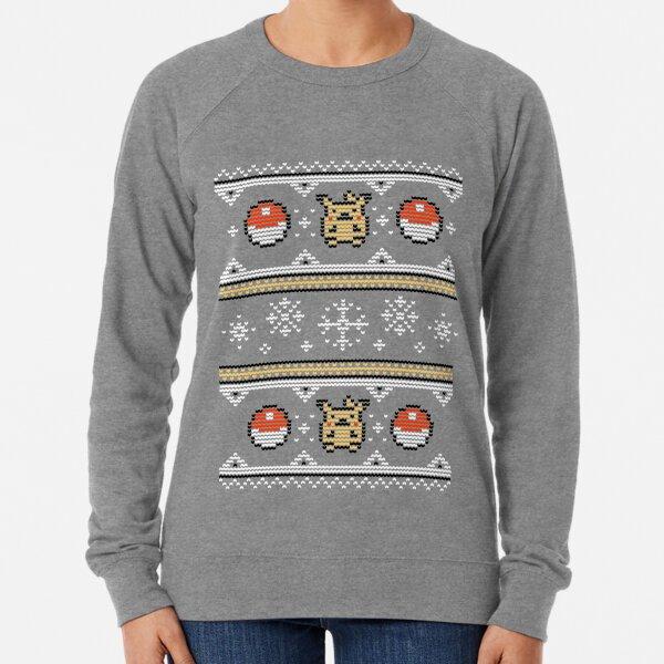 8-bit Christmas Sweater Lightweight Sweatshirt