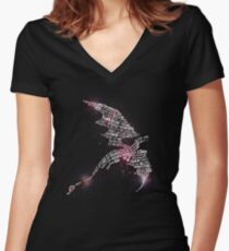 Smaug - Lonely Mountain Women's Fitted V-Neck T-Shirt