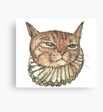 Banjo Cat Face Canvas Print